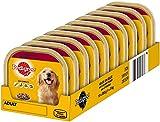Pedigree Hundefutter mit 3 Sorten Fleisch, 10 Schalen (10 x 300 g)