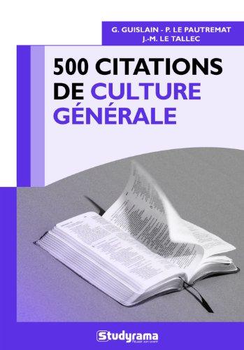 500 citations de culture générale