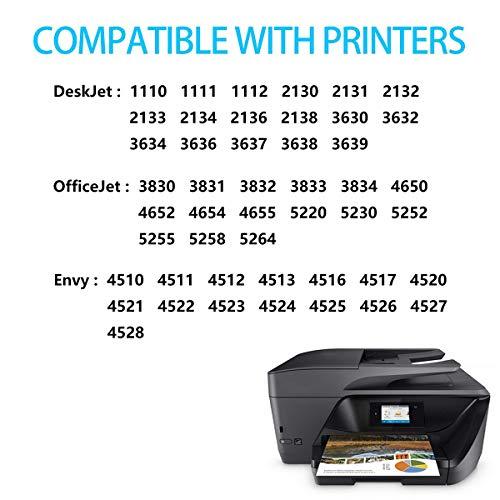 Ckmy 302XL -  Cartuchos de Impresora para HP 302 XL Multipack (Compatible con Officejet 3831,  3833,  3830,  5220,  5230,  Envy 4520,  4525,  4527,  Deskjet 3639,  3636 y 3630),  Color Negro