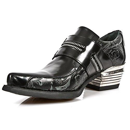 New Rock Dallas nero Pelle Scarpe M.WST002-S1 BLACK, BLACK