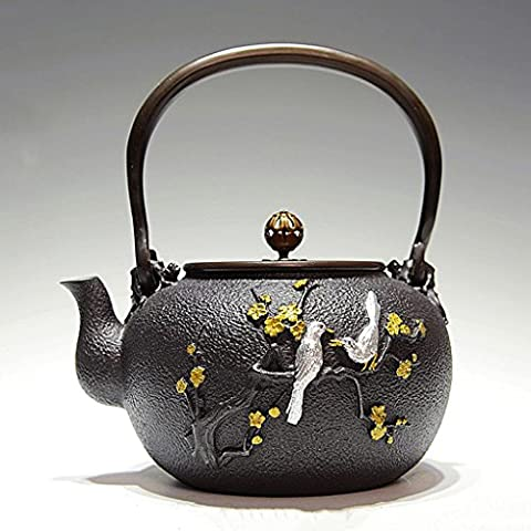 Tanabe Cherry Early Bird Cries Bottle Cast Iron Pot Bubble Boil Teapot Pig Iron Teapot Southern Old Iron Pot