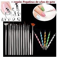 Malloom® 20PCS Arte de uñas puntea Cuadro Dibujo Polish herramientas de pluma pinceles