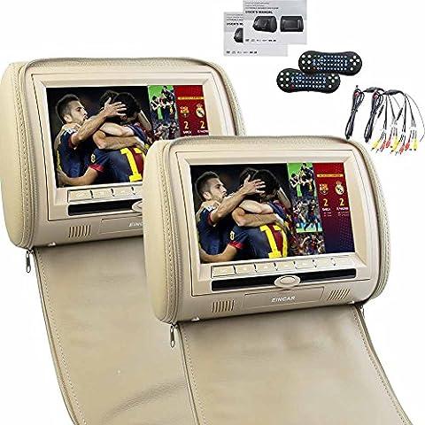 Schermo EinCar 9 pollici dual lettore DVD Video LCD Poggiatesta