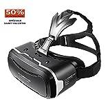Lunettes VR, SHINECON Réalité Virtuelle 3D VR Casque Verres Pour Regarder Des films / Jeux 3D Pour IOS iPhone, Android Téléphones Portables 4,7-6 Pouces