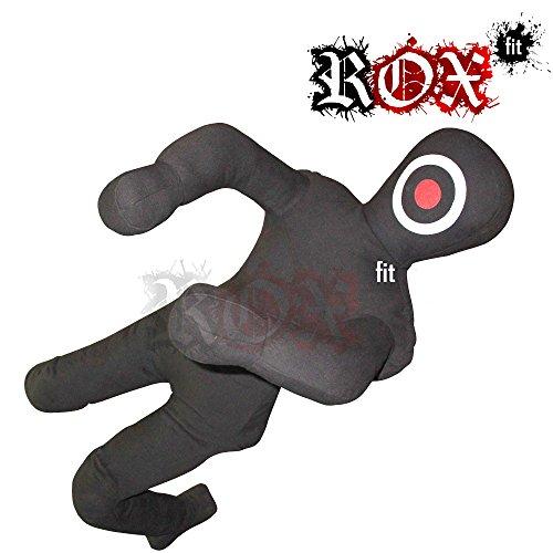 ROX Fit Grappling Dummy Rox Passform MMA Realistische Judo Boxsack Grappling Dummy – Sitzposition – Hände Vorne Ungefüllt Schwarz (4 Fuß (48