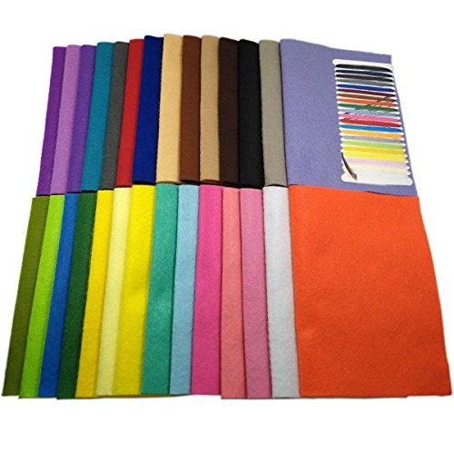 28pcs-30cm-30cm-12-x-12-pouces-Feutre-acrylique-Tissu-non-tiss-doux-Diy-Artisanat-Travail-Patchwork-Couture-Couleur-mlange-14mm-Tissu-pais-pais