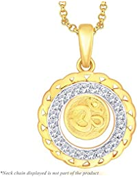 Peora Gold Plated OM Pendant