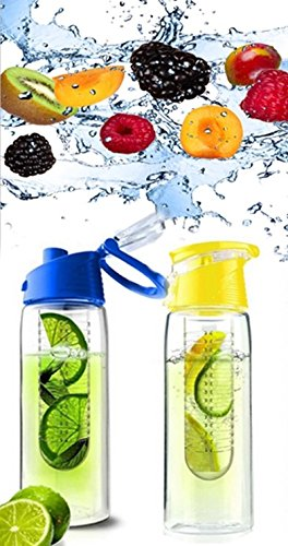 PREMIUM Set - 2 Trinkflaschen für Fruchtschorlen (1x blau / 1x gelb)