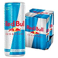 Red Bull Sugar Free Energy Drink - Pack of 4 x 250 ml