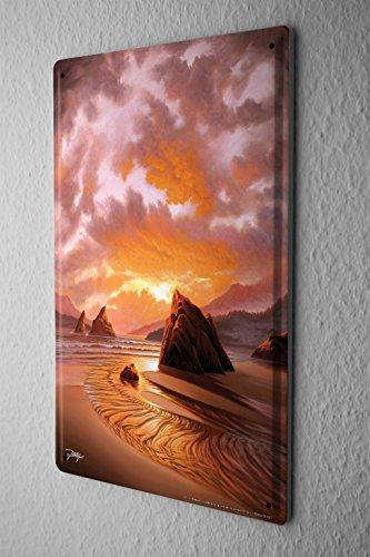 Cartello Targa In Metallo Decorazione Vacanza Agenzia Di Viaggi bassa marea di roccia Della Parete Piastra Insegna Metallica 20X30 cm
