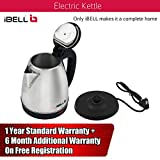 iBELL SEK15L Premium 1.5 Litre Stainless Steel Electric Kettle,1500W Auto Cut-Off Feature,Silver with Black