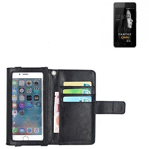 K-S-Trade Für FANTEC Limbo Schutz Hülle Case mit Displayschutz/Schutzfolie Flip Cover Wallet case Etui Hülle für FANTEC Limbo schwarz