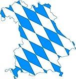 Applikationsaufkleber Bayrische Raute - Umriss Bayern - blau-weiß - AP2937