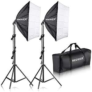 """Neewer® 700W Fachfotografie 24 """"x 24"""" / 60x60cm Softbox mit E27 Sockel Licht Lampe Kit für Foto-Studio- Porträts, Produktfotografie und Videoaufnahme"""