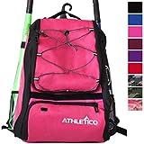 Athletico Baseball Bat-Tasche - Rucksack für Erwachsene, Baseball-Ball Softball-Ausrüstung, für Kinder-, Jugend-, und | Schuhe, Fledermaus, Helm-Handschuh und Extra-Fach, mit Haken, magenta
