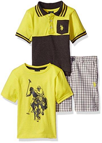 us-polo-assn-little-boys-toddler-polo-duo-3-piece-set-neon-yellow-4t