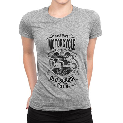 BLAK TEE California Old School Motorcycle Club Cafe Racer Style Damen T-Shirt S