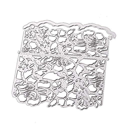 FNKDOR Embossing Machine Scrapbooking Stanzschablone Prägeschablonen Schablonen Stanzformen, Zubehör für Sizzix Big Shot und Andere Stanzmaschine (D)