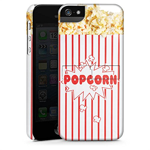 Apple iPhone 5s Housse Étui Protection Coque Popcorn Cinéma Design CasStandup blanc