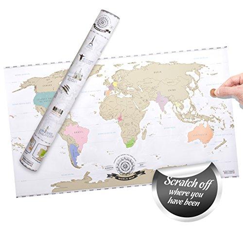 Scratch off World Map XXL - Mapa mundo rascar - viajeros