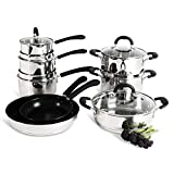 ProCook Gourmet Steel Induction Cookware Set - 8 Piece - Stainless Steel Set