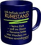 Witzige Geschenk-Tasse: Ruhestand Kaffeebecher im Geschenkkarton