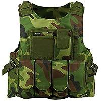 ThreeH Chaleco táctico liviano y modular Desgaste de caza de la aplicación de ley Paintball Vest Entrenamiento al aire libre SA0302A