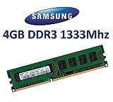 SAMSUNG Original 4 GB 240 pin DDR3-1333 (1333Mhz, PC3-10600, CL9) Nicht-ECC , unbuffered ( M378B5273BH1-CH9 ) für DDR3 + i3 + i5 + i7 Mainboards