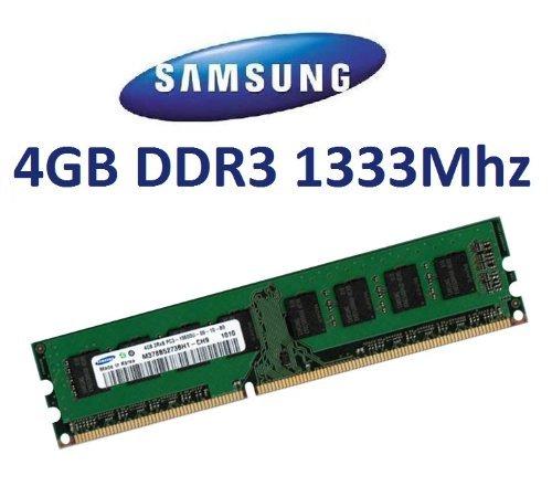 1333 Pc10600 Speicher (SAMSUNG Original 4 GB 240 pin DDR3-1333 (1333Mhz, PC3-10600, CL9) Nicht-ECC , unbuffered ( M378B5273BH1-CH9 ) für DDR3 + i3 + i5 + i7 Mainboards)