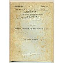 venezia QUADERNO MENSILE 1926 n. 11 Disciplina giuridica dei rapporti collettivi del lavoro