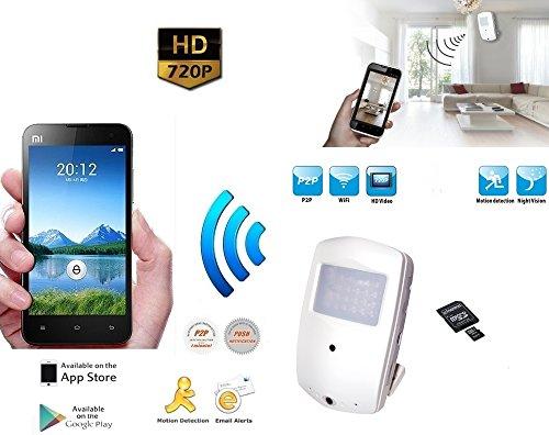 Galleria fotografica Micro Telecamera Spia Occultata P2P con Visione Remota su Smartphone iPhone Cellulare Tablet iPad Microcamera Minicamera Spia