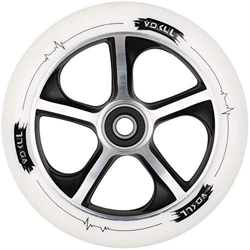 Vokul Pro Kick Stunt-Scooter geschmiedete Räder mit ABEC-7-Kugellager, 120 mm (Weiß)