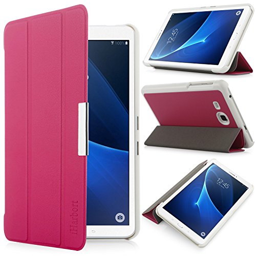 iHarbort® Samsung Galaxy Tab A 7.0 Hülle - Ultra Slim Leder Tasche Hülle Etui Schutzhülle Für Samsung Galaxy Tab A 7.0 Zoll T280 T285 Case Cover Holder,(Galaxy Tab A 7.0, Rosa)