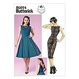 Butterick pPatron de couture facile pour femme Patron 6094Robes de style vintage avec détails au dos