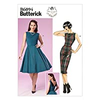 Butterick Ladies Easy Sewing Pattern 6094 - Vintage Style Dresses with Back Detail