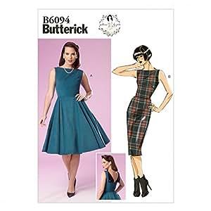 Butterick Patterns Mesdames Patron de Couture Facile 6094–Robes de style vintage avec détail dos