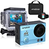 "Blue: Andoer 4K 1080P Wifi Sports Action Video Camera 16MP 2"" Ultra-HD LCD 170 Degree Wide-Angle Lens Waterproof Mini Camera Camcorder"