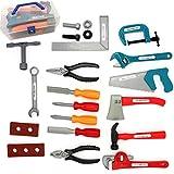 Rolanli 22er Set Werkzeugkoffer Kinder Werkzeugkoffer Spielzeug Werkzeugkoffer Reparaturwerkzeug für Kinder