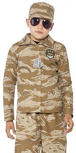 Jungen Wüste Armee Militär Tarnung Uniform Kostüm Kleid Outfit - 7-9 Jahre