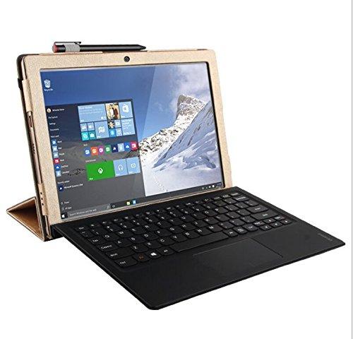 Preisvergleich Produktbild Lenovo Miix 720 Hülle,KuGi ® Lenovo Miix 720 Hülle / Fall - Multi Angle Ständer Schlank Buch PU Leder Abdeckungs Fall für Lenovo Miix 720 Tablet-PC.(Blau)