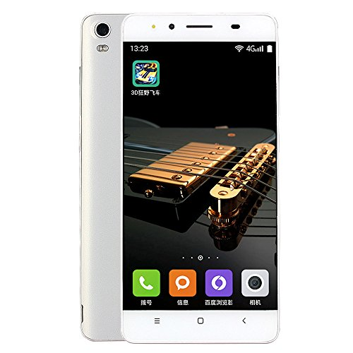 MYQyiyi Smartphone Libre Android 6.0,Teléfonos Móviles Libres Dual SIM Tarjetas (Blanco)