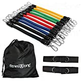 fitnessXzone Leg Resistance Bands Set - 13 Pieces with Carry Bag