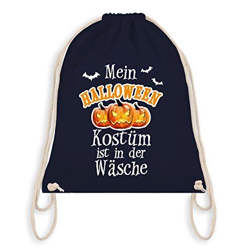 Halloween - Mein Halloween Kostüm ist in der Wäsche - Unisize - Navy Blau - WM110 - Angesagter Turnbeutel / Gym (Beliebte Kostüme Halloween Zeiten Aller)