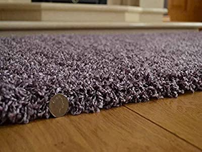 Shaggy Thick Modern Luxurious Heather Rug High Pile Long Pile Soft Pile Anti Shedding Available in 9 Sizes - inexpensive UK light store.