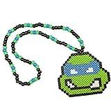 Kandi Collana Tartaruga Ninja Leonardo TMNT, collana rave, collana con perline, collana di perline costume Halloween abbigliamento per festival di musica