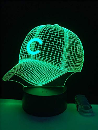 3D Hut Baseball C Helm Cap Led Lampe Sport Club Team Logo Usb Controler Taschenlampe Tragbare Laterne Adapter Geschenk Junge Spielzeug Touch Switch -