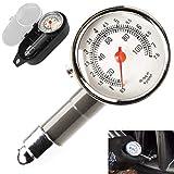Jauge de pression des pneus – Manomètre de pression des roues, mesure rapide et précise, pour jauge de pression des pneus de voitures, motos, vélos, SUV, RV ou ATV, etc.
