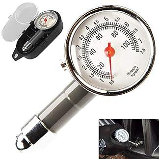 Medidor de Presión Neumáticos – Manómetro Presión Ruedas, Medición Rápida y Precisa, para Medidores de Presión de Neumáticos de Automóviles, Motocicletas, Bicicletas, SUV, RV o ATV etc