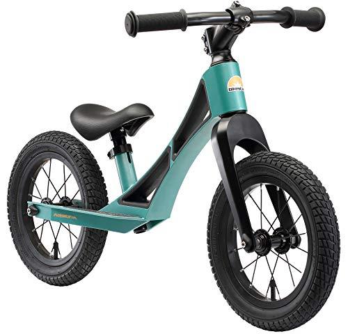 BIKESTAR Bicicleta sin Pedales de magnesio (Muy Ligero!) para niños y niñas 3-4 años   Bici con Ruedas de 12' Edición BMX   Verde
