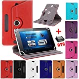 SMM 360 Rotate With Stand Universal 7'' Tablet Flip Cover For I KALL N3 (Color May Vary) (Free OTG Connector)